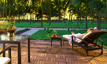 Sitaram Ayurveda Beach Retreat Terrasse